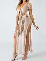 cheap -Women's Boho Set - Solid Colored, Cut Out / Ripped Dress