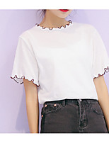 cheap -Women's Vintage Puff Sleeve Cotton Blouse - Solid Colored / Geometric Black & White, Tassel