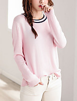 cheap -Women's Going out Long Sleeve Pullover - Striped