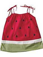 cheap -Toddler Girls' Red Fruit Sleeveless Dress