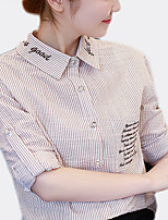 abordables -Tee-shirt Femme, Couleur Pleine / Lettre Basique