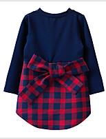 Недорогие -Дети (1-4 лет) Девочки Пэчворк Длинный рукав Платье