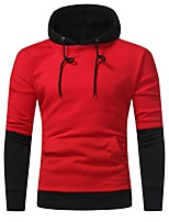 cheap -Men's Basic / Street chic Hoodie - Solid Colored / Color Block