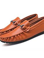 abordables -Hombre Mocasín PU Primavera Zapatos de taco bajo y Slip-On Negro / Azul Oscuro / Marrón