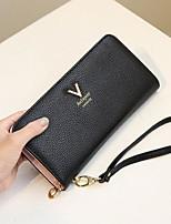 cheap -Women's Bags PU(Polyurethane) Wallet Zipper Gray / Fuchsia / Sky Blue