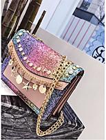 cheap -Women's Bags PU(Polyurethane) Shoulder Bag Zipper Blushing Pink / Brown / Wine
