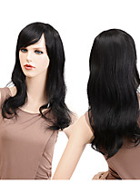cheap -Synthetic Wig Wavy Middle Part Synthetic Hair Party / Classic / Synthetic Black Wig Women's Long Capless / Yes