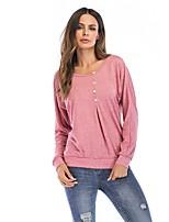 abordables -Tee-shirt Femme, Couleur Pleine Actif