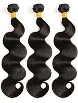 Недорогие -3 Связки Перуанские волосы Естественные кудри Натуральные волосы Человека ткет Волосы / One Pack Solution / Накладки из натуральных волос 8-28 дюймовый Ткет человеческих волос