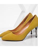 cheap -Women's Shoes Sheepskin Spring / Fall Comfort / Basic Pump Heels Stiletto Heel Black / Yellow