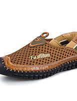 Недорогие -Муж. Сетка Лето Удобная обувь Мокасины и Свитер Темно-синий / Коричневый / Темно-зеленый