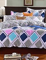 cheap -Duvet Cover Sets Geometric 100% Cotton Applique 3 Piece