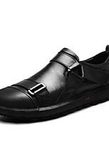 Недорогие -Муж. Кожа Весна / Осень Удобная обувь Мокасины и Свитер Черный / Коричневый / Темно-коричневый