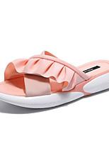 Недорогие -Жен. Обувь Полиуретан Лето Босоножки Тапочки и Шлепанцы Микропоры Белый / Черный / Розовый