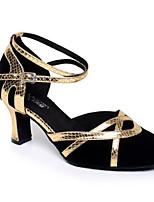 preiswerte -Damen Schuhe für modern Dance Wildleder Sneaker Schlanke High Heel Tanzschuhe Schwarz / Schwarz und Gold / Schwarz und Silbern