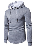 cheap -Men's Active / Basic Hoodie - Solid Colored
