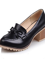 Недорогие -Жен. Обувь Полиуретан Осень Удобная обувь Обувь на каблуках На толстом каблуке Белый / Черный / Розовый