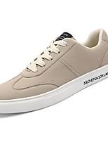 Недорогие -Муж. Замша Осень Удобная обувь Кеды Черный / Бежевый / Серый