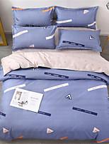 preiswerte -Bettbezug-Sets Geometrisch 100% Baumwolle Applikation 4 Stück