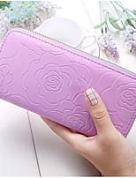 cheap -Women's Bags PU(Polyurethane) Wallet Zipper Yellow / Fuchsia / Coffee