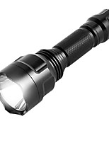 economico -ismartdigi i-8T6 LED Flashlight Torce LED Portatile / Anti-slittamento Campeggio / Escursionismo / Speleologia / Uso quotidiano / Caccia Nero