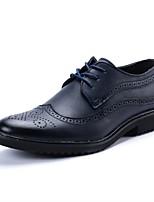 Недорогие -Муж. Полиуретан Осень Удобная обувь Туфли на шнуровке Бежевый / Коричневый / Синий
