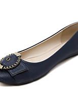 cheap -Women's Shoes PU(Polyurethane) Spring & Summer Comfort Flats Flat Heel Round Toe Bowknot / Buckle Blue / Almond
