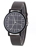 cheap -Women's Dress Watch / Wrist Watch Chinese Casual Watch / Large Dial Alloy Band Casual / Minimalist Black / Silver / Gold