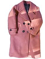 economico -Bambino Da ragazza Essenziale Tinta unita Manica lunga Lungo Cotone Completo e giacca