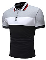 cheap -Men's Basic Polo - Color Block