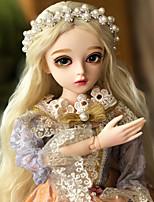 billige -Doris Ball-joined Doll / Blythe Doll Babypiger 24 inch Fuld krops silicone - Højtemperaturresistente fiberpermer Børne Pige Gave
