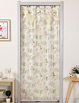cheap -Door Panel Curtains Drapes Living Room Floral Cotton / Polyester Printed