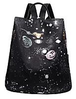 Недорогие -Жен. Мешки Нейлон рюкзак Молнии Геометрический рисунок Черный / Серый / Лиловый