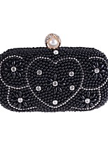 cheap -Women's Bags Polyester Evening Bag Crystals / Pearls Champagne / Black / Silver