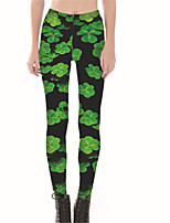 cheap -Women's Basic Legging - Solid Colored Low Waist