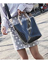 cheap -Women's Bags PVC(PolyVinyl Chloride) Shoulder Bag Solid Black / Blushing Pink / Yellow