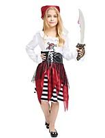 preiswerte -Seeräuber Austattungen Mädchen Halloween / Karneval / Kindertag Fest / Feiertage Halloween Kostüme Weiß Solide / Gestreift / Halloween Halloween