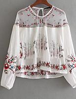 abordables -chemise pour femme - col rond géométrique