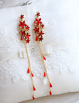 abordables -Mujer Cristal Clásico Pendientes colgantes - Princesa Elegante Rojo Para Festivos / Festival