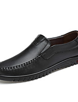 cheap -Men's Moccasin Nappa Leather Spring / Summer Loafers & Slip-Ons Black