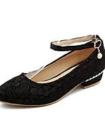 Недорогие -Жен. Обувь Сатин Весна Удобная обувь Обувь на каблуках На низком каблуке Черный / Красный