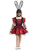 cheap -Witch Costume Girls' Halloween / Carnival / Children's Day Festival / Holiday Halloween Costumes Fuchsia Solid Colored / Halloween Halloween
