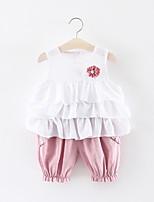 billiga -Bebis Flickor Enfärgad Ärmlös Klädesset