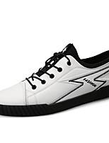 Недорогие -Муж. Комфортная обувь Наппа Leather Весна / Осень Кеды Белый / Черный