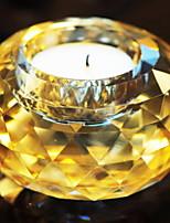 Недорогие -Европейский стиль стекло Подсвечники Канделябр 1шт, Свеча / подсвечник