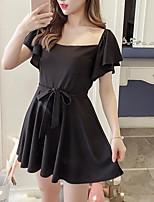 preiswerte -Damen A-Linie Kleid Solide Mini