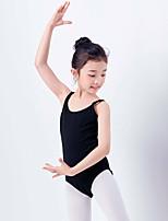 economico -Danza classica Body Da ragazza Addestramento / Prestazioni Cotone Con ruche Senza maniche Naturale Calzamaglia / Pigiama intero