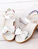 Недорогие -Девочки Обувь Кожа Лето Удобная обувь Сандалии Бант для Дети Белый / Желтый / Розовый