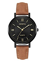 cheap -Geneva Women's Wrist Watch Chinese New Design / Casual Watch / Cool Leather Band Casual / Fashion Brown / Grey / Navy