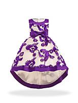 cheap -Princess Dress Party Costume Flower Girl Dress Girls' Movie Cosplay Princess Purple / Brown / Dark Blue Dress Children's Day Masquerade Polyester